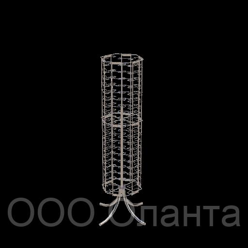 Стойка для очков напольная поворотная (120 мест) арт. Соч3