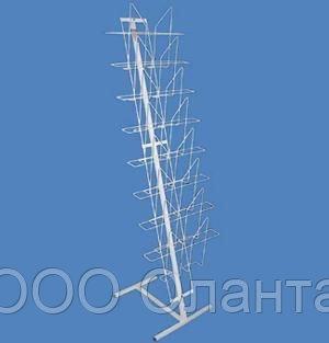 Стойка напольная с наклонной полосой для прессы на 8 карманов формат А3 арт. СГ2-8