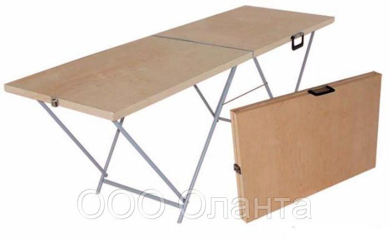 Стол-чемодан складной для уличной торговли двухсекционный