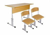 Комплект школьной мебели двухместный растущий арт. КУр-2, фото 1