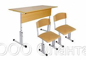 Комплект школьной мебели двухместный растущий арт. КУр-2
