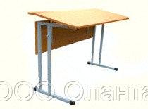 Стол ученический двухместный с регулируемым углом наклона столешницы арт. УС-2р
