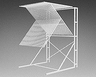 Стойка-экспозитор для ковров на 20 мест (2200х2220х3300 мм) арт. СК5, фото 1