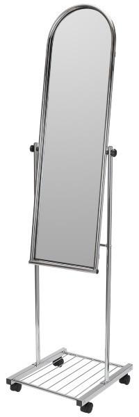Зеркало напольное на колесах (400х1620 мм) хром арт. ST252
