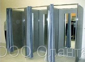 Комплектующие каркаса примерочной отдельностоящей кабины трехсекционной 3000х1000х2000 мм (без штор) арт. №11