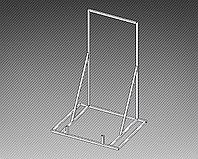 Стойка демонстрационная под стальную ванну арт. СВ1