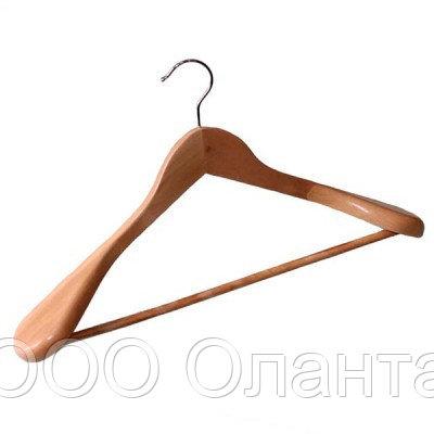 Вешалка костюмная деревянная с перекладиной (L=440 мм) арт. C30-5D