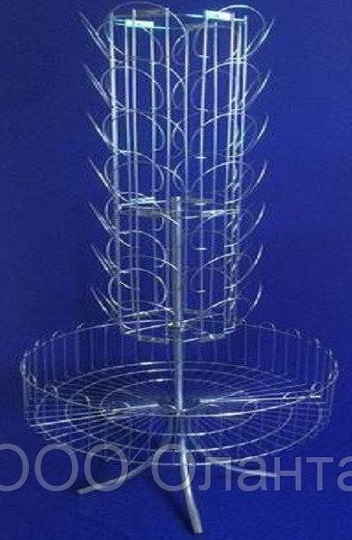 Стойка для шапок напольная с корзиной 42 элемента арт. СО7