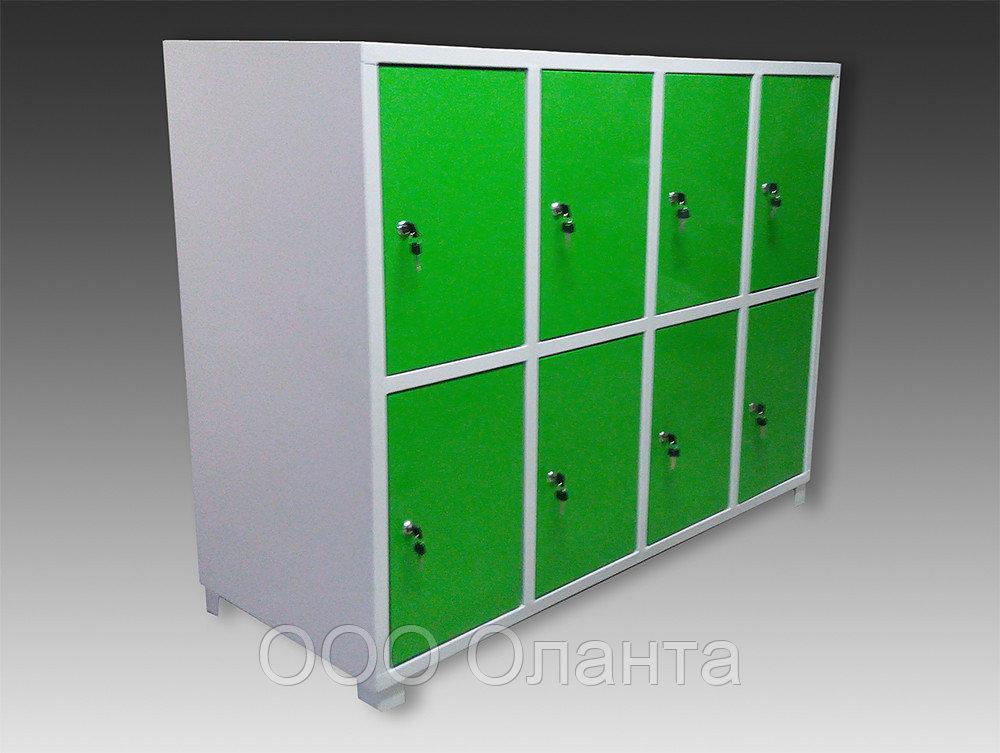 Шкаф металлический горизонтальный для сумок 8 ячеек (1200х500х900) арт. ШСГ-8С