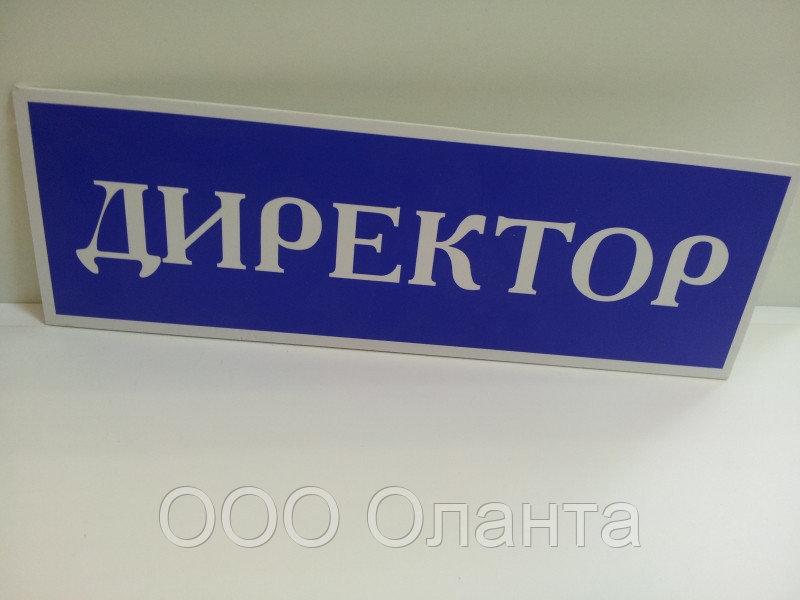 Информационная табличка (300х80 мм) офисная