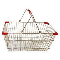 Корзина покупательская для магазина самообслуживания хром 20 литров арт. 0360, фото 1