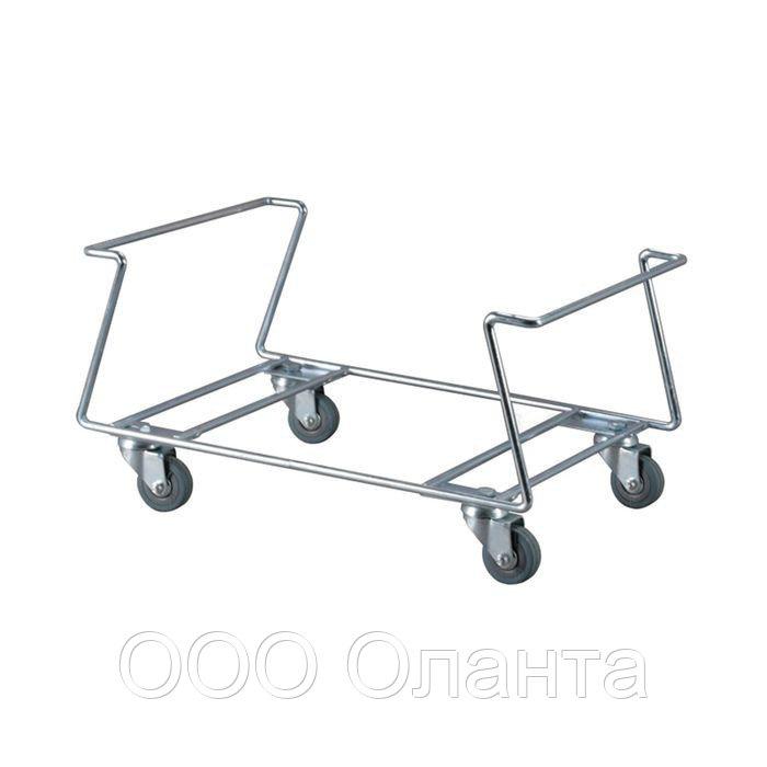 Подставка-накопитель для покупательских корзин на колесах арт. NPK3-K