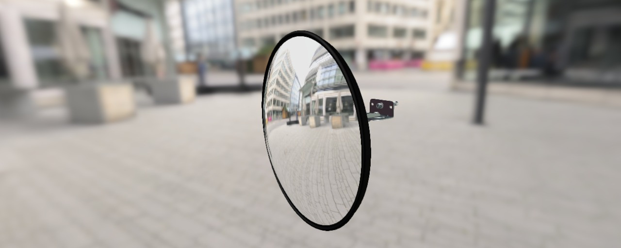 Зеркало обзорное (D=600 мм) арт. СМ60