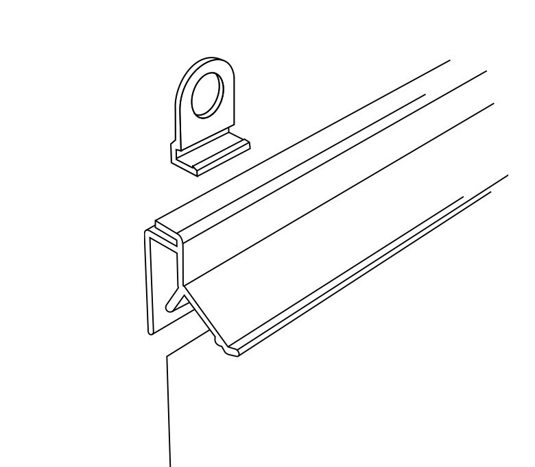 Профиль для плакатов защелкивающийся CLICKER (L=600 мм) пластик арт.820003