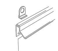 Профиль для плакатов защелкивающийся CLICKER (L=600 мм) пластик арт.820003, фото 1