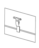 Бейдж горизонтальный с клипсой и булавкой (90х55) арт.719055