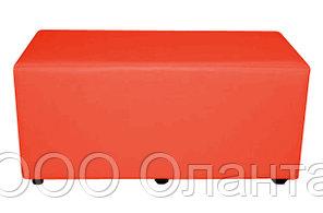 Банкетка пуф двухместный экокожа (760х400х400) арт. 2С