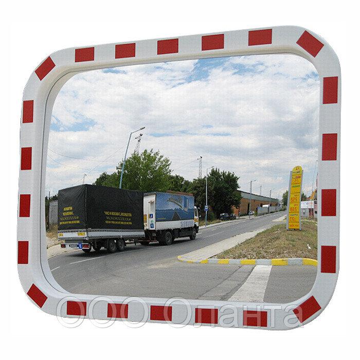 Зеркало обзорное дорожное световозвращающее (800х600 мм) арт. ДС800