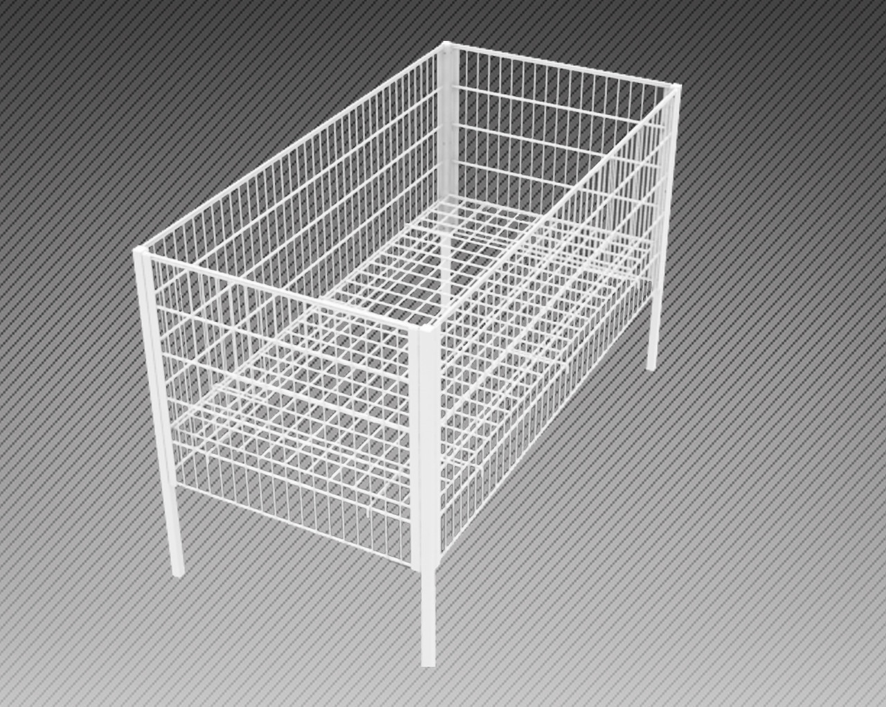 Стол для распродаж-накопитель c регулируемым дном усиленный (500х250х750 мм) крашенный арт. RS50/25