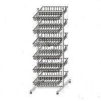 Прикассовая стойка на 12 корзин (400х800х1450 мм) арт. СтПр61