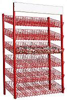 Стеллаж сетчатый с корзинами на 60 ячеек (1000х600х2250 мм) арт. СК60, фото 1