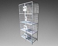 Шкаф металлический сетчатый для сумок 8 ячеек (800х400х1800) арт. ШСВ-8СС, фото 1