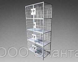 Шкаф металлический сетчатый для сумок 8 ячеек (800х400х1800) арт. ШСВ-8СС