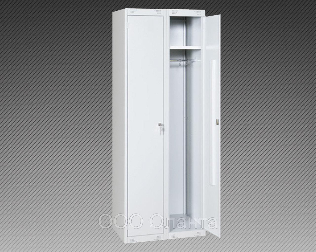 Шкаф для одежды двухсекционный (600х500х1800)