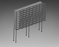 Шкаф металлический для мобильных телефонов 80 ячеек (1740х200х1850) арт. ШМВ-80С, фото 1