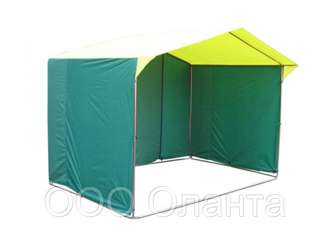 Палатка для уличной торговли ПВХ разборная (2000х2000 мм) оцинкованный каркас
