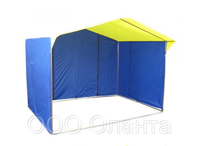 Палатка для уличной торговли ПВХ разборная (2500х2000 мм) оцинкованный каркас