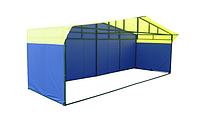 Палатка для уличной торговли разборная (6000х2000 мм) профильная труба, фото 1