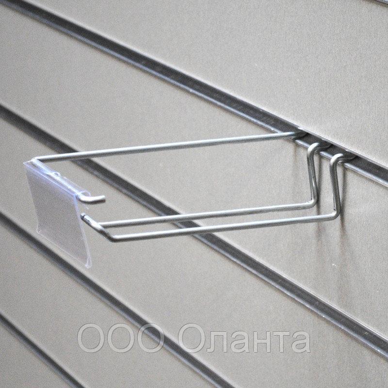 Крючок двойной с держателем ценника (L-150 мм) цинк арт.ЕК326/150