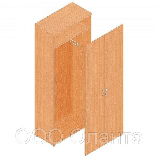 Шкаф гардеробный для офиса (798х418х1960) с выдвижной штангой