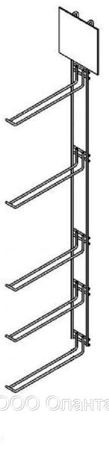Дисплей вертикальный на 5 крючков