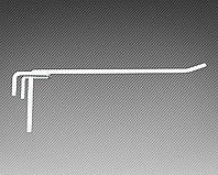 Крючок одинарный (L-100 мм) э/панель,сетка,перфорация, фото 1