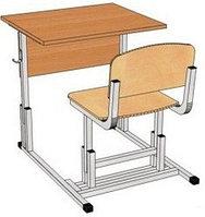 Стол-моноблок ученический одноместный арт. Пт-1