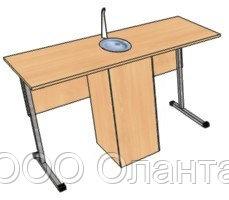 Стол ученический для кабинета химии двухместный арт. СХ-1