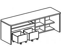 Игровой модуль для развивающей деятельности (1430х400х620 мм) арт. Р2