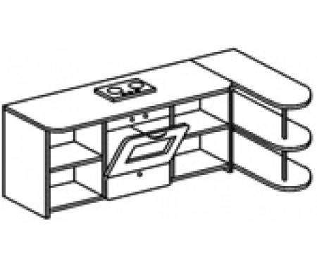 Игровой модуль КУХНЯ угловая (1500х700х1000 мм) арт. К2