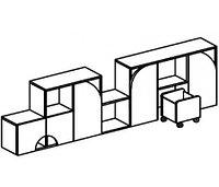 Стеллаж для игрушек ГРУЗОВИЧОК (2438х400х752 мм) арт. СТГР