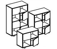 Стеллаж для игрушек и пособий на 4 ячейки ДОМИНО пристенный (708х400х752 мм) арт. СТД3