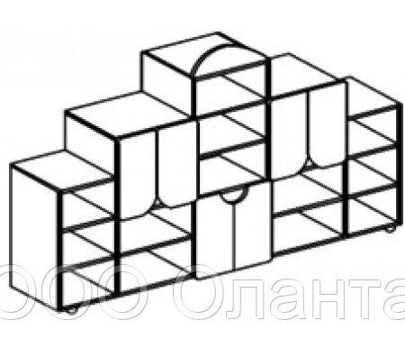 Стеллаж для игрушек БАБОЧКА (2196х400х1400 мм) арт. СТБ