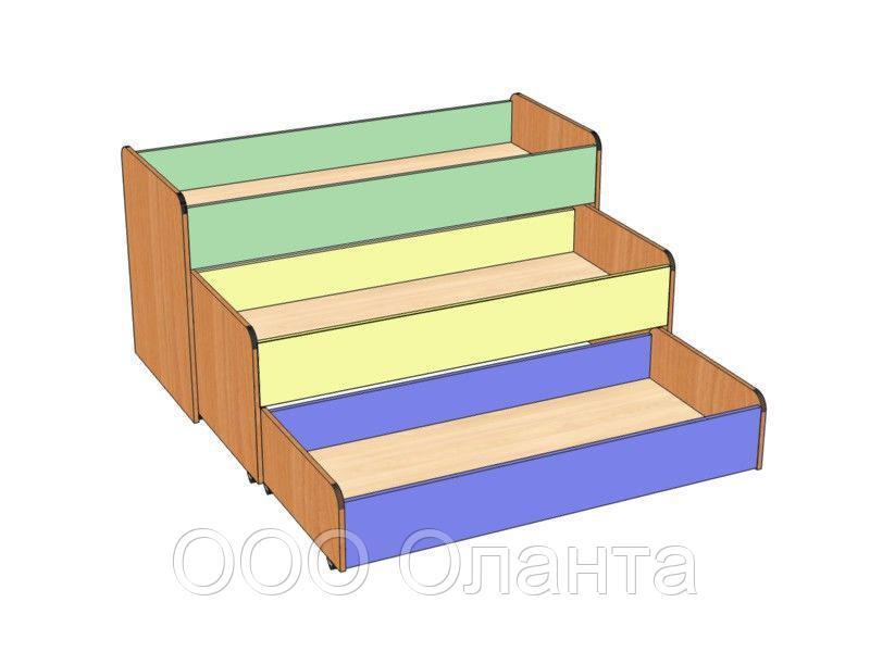 Кровать детская трехуровневая (1462х640х750)