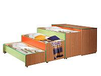 Кровать детская с тумбой трехуровневая (1512х640х852), фото 1