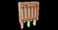 Вешалка на 10 крючков для полотенец для детского сада (750х160х780) настенная арт. ВП1