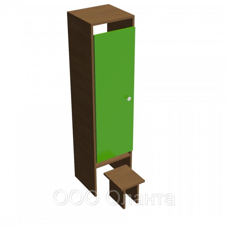 Шкаф одноместный для раздевалки детского сада (332х330х1400) арт. ШДО1