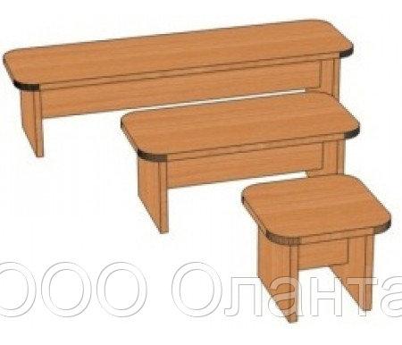 Скамья для детского сада (250х250х200) арт. СК3