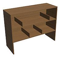 Стол барьер выдачи и хранения книг библиотечный (1150х420х890 мм) ЛДСП арт. СББ1