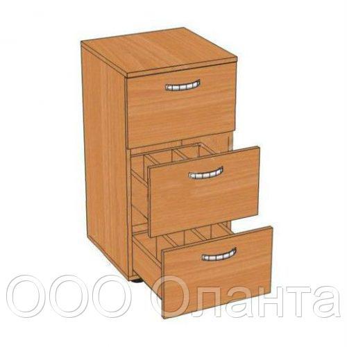 Шкаф формулярный библиотечный 3 ящика (400х400х800 мм) ЛДСП арт. ШФБ1